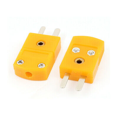 Male K Type Thermocouple Wire Temperature Probe Connector 2 Pcs