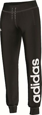 adidas Damen Trainingshose Essentials Linear Cuffed Pant schwarz weiss