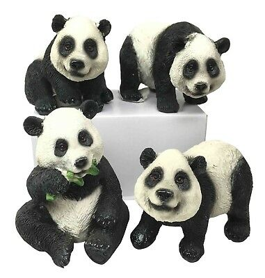 Wildlife Adorable China Giant Panda Bear Family Figurine Collectible Sculptures
