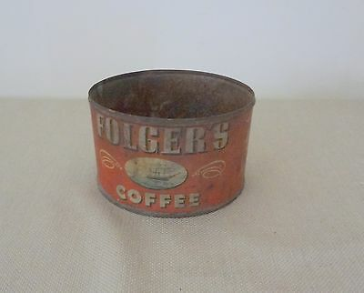 Old Antique Folger's Metal Can Dated 1946 - Has Ships Logo J.A.F. & Co.
