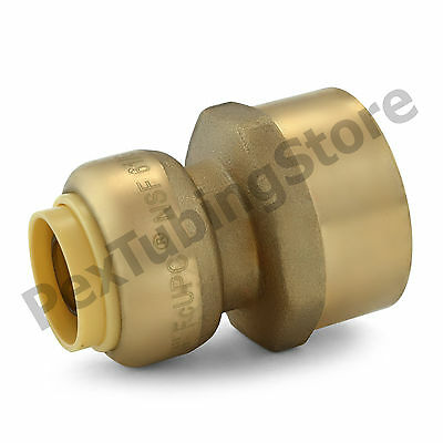 "1/2"" Sharkbite Style Push-Fit x 3/4"" FNPT Lead-Free Brass FNPT Adapter"