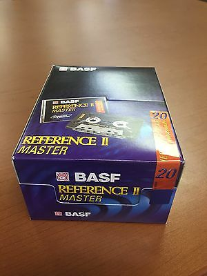 Sealed 10-Pack Basf Reference Ii Master 20 High Bias Blank Audio Cassette Tapes