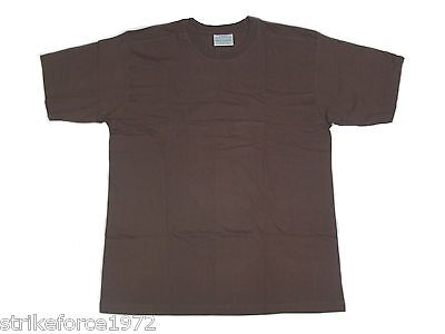 NEW  Brown Cotton Army T Shirts - Military Issue - Size XL (116-122cm) Pack of 3