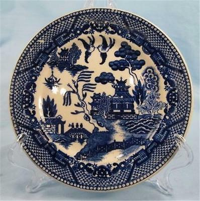 Vintage Blue Willow Bread & Butter Plate Made In Japan Blue & White AS IS (O)