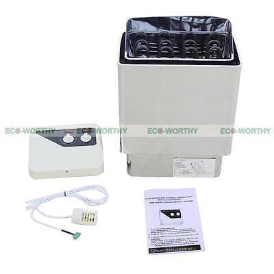 6KW Sauna Heater Stove Wet & Dry Stainless Steel External Control Free Shipping