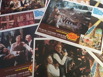 """1976 Cult Film At The Earths Core 11"""" x 14"""" Lobby Card Set of 8 Peter Cushing"""