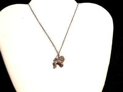 "Gold Plated Chow Chow Necklace with 16"" USA Link Chain"