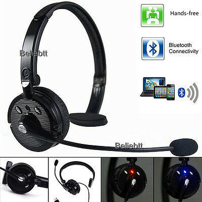 Over The Head Boom Mic Bluetooth Noise-Canceling Headset For Trucker Drivers NEW