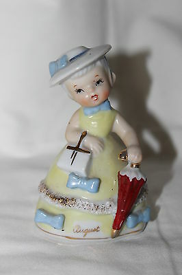 Vintage Napco Napcoware Spaghetti Birthday Bell Rare August Bows And Unmrella