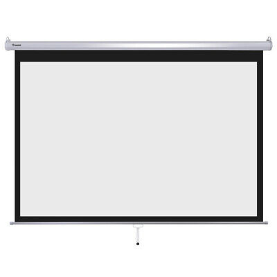 """Instahibit® 100"""" 16:9 Movie Manual Projection Screen Pull Down Projector 87x49"""