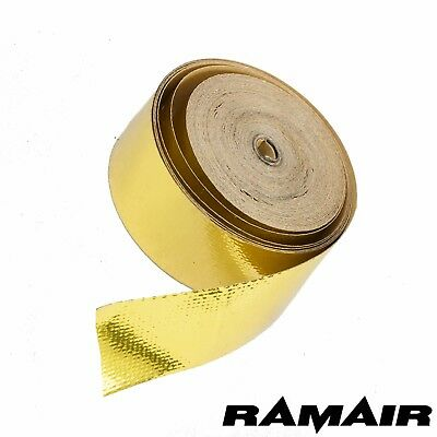RAD Gold Thermal Heat Barrier Tape 10m Roll - All Sizes - Air Intake Pipe Shield