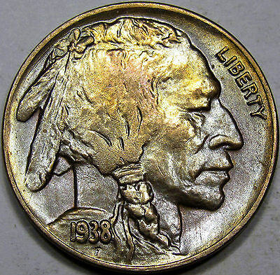 1938-D Buffalo Nickel Superb Gem BU MS+++... Very Flashy, Nice Toning! Pretty!!!