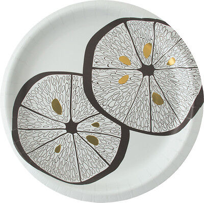 "Madhouse By Michael Aram 10"" Lemonwood Fine Paper Dinner Plate (8 Count)"