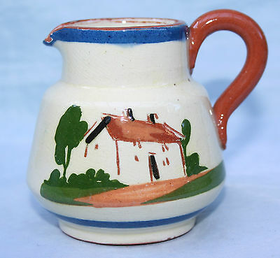 Vintage Torquay Devon Art Pottery Cottage Motto ware Small Cream Milk Jug