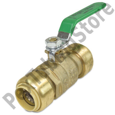"""3/4"""" Sharkbite Style (Push-Fit) Push to Connect Lead-Free Brass Ball Valve"""