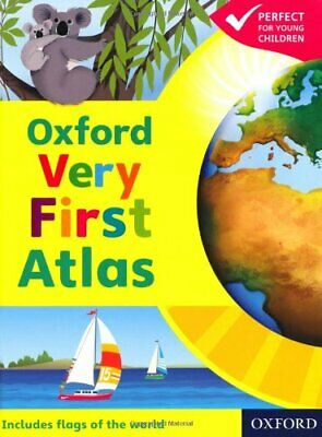 OXFORD VERY FIRST ATLAS NEW ED Hardback Book The Cheap Fast Free Post