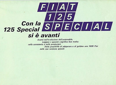 Fiat 125 Special Original Italian Language Brochure Large Excellent Condition