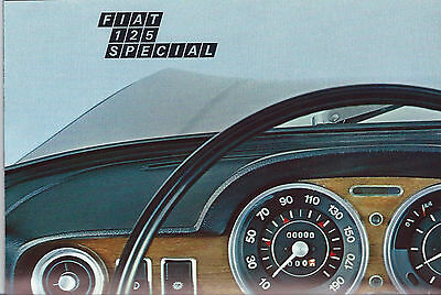 Fiat 125 Special Italian Language Folded Sales Brochure Interior Seats