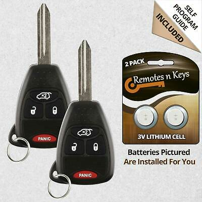 Jeep Grand Cherokee Key Fob Battery >> 2 New Replacement Keyless Remote Car Key Fob For Jeep Grand