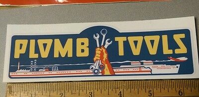 Plomb Tools War Time WW2 decal for restoration of vintage tool box  Price Cut!
