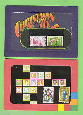 #d242.  1976  &  1977 Australian Christmas  Stamp Packs