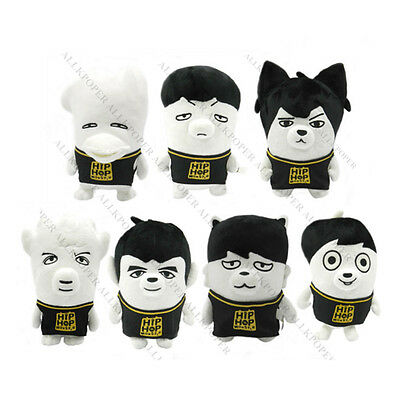 KPOP BTS Rap MONSTER Cute PLUSH DOLL Toy Bangtan Boys Jung Kook SUGA Jimin Jin V
