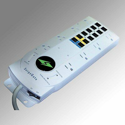 ITW Surgegate 8-Outlet AC Surge Protector with T1/LL and LAN Protection (M8COM)