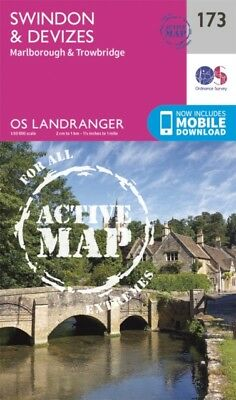 Landranger Active (173) Swindon, Devizes, Marlborough & Trowbridg...