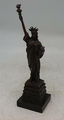 Bronze Statue of Liberty - 25.5cm - Solid Marble Base