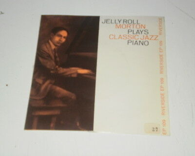 "Jelly Roll Morton Plays Classic Jazz Piano - 7"" Riverside Made In Italy - Vg/vg+"