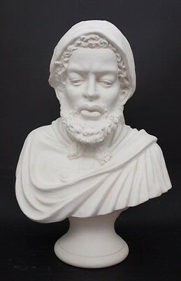 Gorgeous Parian Style Porcelain Orientalist Male Bust - 44cm High