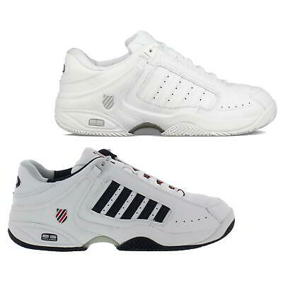 K Swiss Defier RS Mens White Leather Tennis Trainers Shoes Size UK 8-13