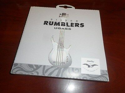 NEW - Aquila Silver Rumblers String Set For Kala U-Bass