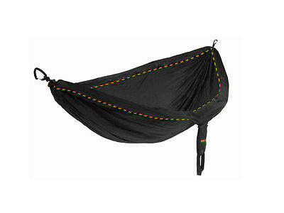 Eagles Nest Outfitters ENO DoubleNest Hammock Black Rasta Stitch Limited Edition