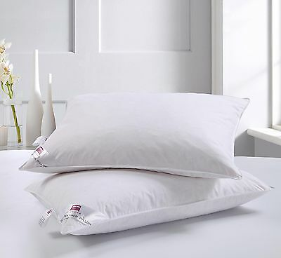 4 X Luxury Duck Feather Hotel Quality Pillows Dickens Brand **special Offer**