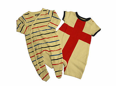 England Babygrow Baby Boy Girl Playsuit Sleepsuit Romper Vest Team Football Kit