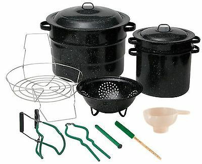 Granite Ware 0719-1 Enamel-on-Steel Canning Kit with Blancher 12-Piece New