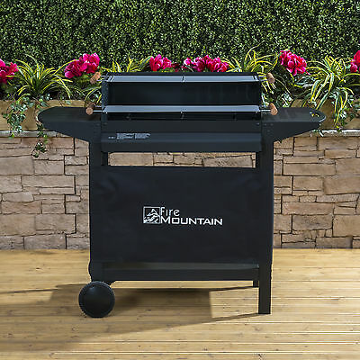 Fire Mountain Deluxe Trolley Charcoal Barbecue - Portable BBQ FREE P&P