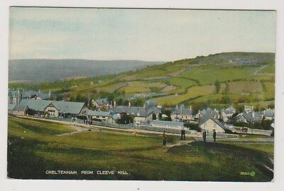 Gloucestershire postcard - Cheltenham from Cleeve Hill - P/U 1929