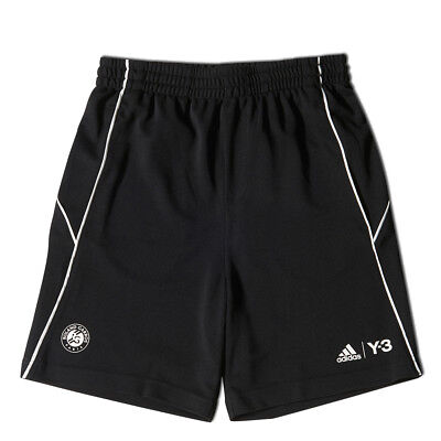 adidas Y3 Boy's Roland Garros Tennis Shorts Sport Summer Fashion - Black & White