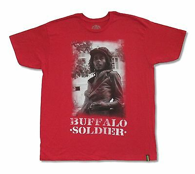 Bob Marley Buffalo Soldier Heather Red T Shirt New Official Merch