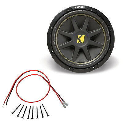 Kicker C10 10-Inch Comp Series Dual 4-Ohm 150-Watt Sub Subwoofer Install Kit