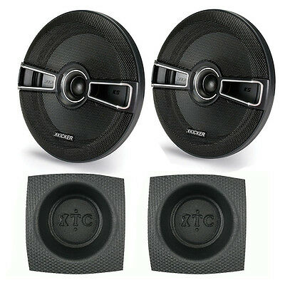 "Kicker KSC67 KS-Series 6.75"" Coaxial 2-Way Speaker Pack with Round Baffle Pair"