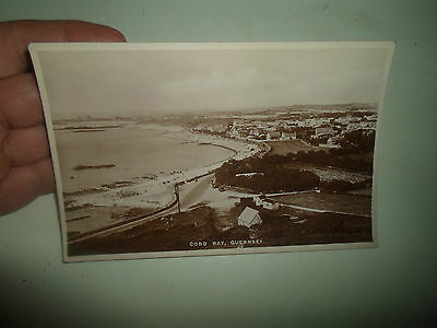 Vintage RP Postcard Cobo Bay, Guernsey ~ Pelham Real Photo Series