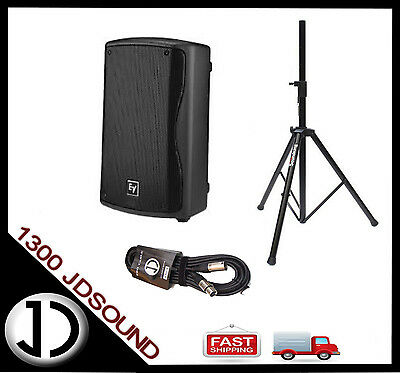"""1X EV ZXA1 two-way 8"""" 200W active speaker + STAND & CABLE - SAME DAY DISPATCH"""