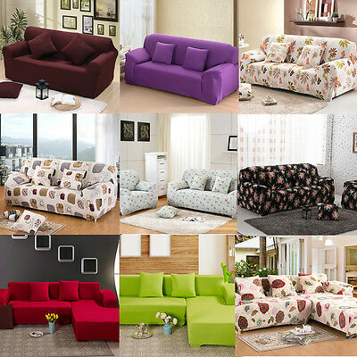 1/2/3 Seater Sofa Slipcover Stretch Protector Soft Couch Cover Pillowcase 1PCS