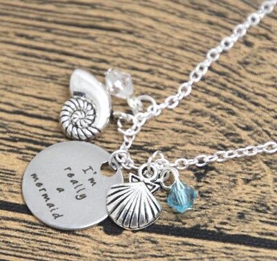 """""""i'm Really A Mermaid"""" Pendant Necklace Ariel The Little Mermaid Charms H20"""