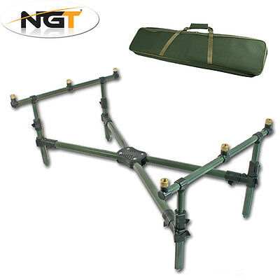 NGT Cross Rod Pod Tripod Low Frame with Deluxe Case & 3 Rod Buzz Bar