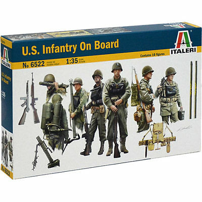 ITALERI 6522 U.S Infantry on Board 1:35 Figures Model Kit