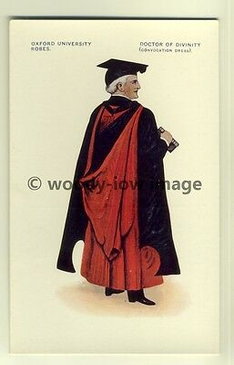 su1346 - Oxford University Robes - Doctor of Divinity - art postcard